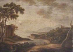 Italianate Coastal Landscape with Ruins