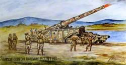 Siege Gun on Railway Mounting