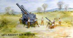 Anti-Aircraft Gun in Action