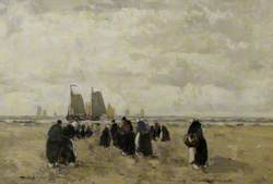 Dutch Shore Scene