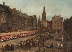 Robert Burns' Funeral Procession, Dumfries