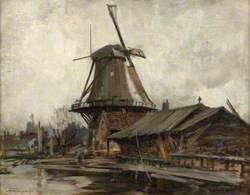 Rotterdam with Windmill