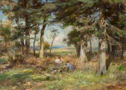Firwood with Children Picking Brambles