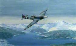 Spitfire F.21 of No. 602 Squadron (City of Glasgow) over Loch Lomond in 1948