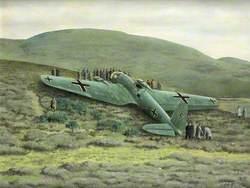 Heinkel Bomber near Humbie in 1939