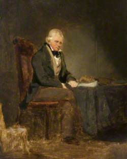 Sir Walter Scott Seated at a Table