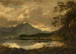 Figures by a Loch