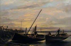 Fishing Boats at Old Pier