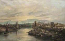 Girvan Harbour, 1880