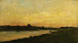 View of the River Oise at Sunset