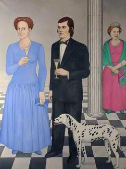 Robert Burns and His Dog Have Royal Visitors