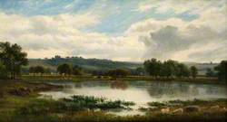 Lake and Hill Landscape