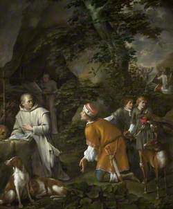 Roger Guiscard, Duke of Apulia and Calabria, Meeting Saint Bruno at La Torre