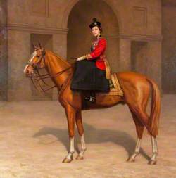 Her Majesty Queen Elizabeth II in the Uniform of the Scots Guards, on 'Imperial'