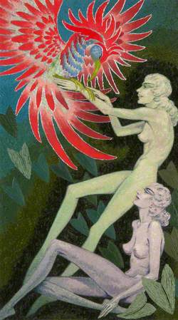 Bird of Paradise and Two Figures