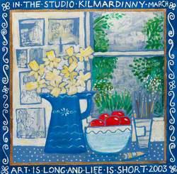 In the Studio at Kilmardinny