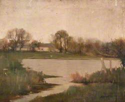 Country Scene with Pond