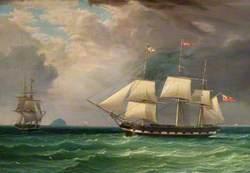 The Barque 'Eldon' off Ailsa Craig