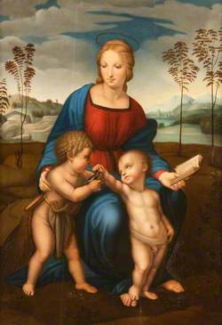 Madonna of the Goldfinch with Christ Child and Saint John the Baptist