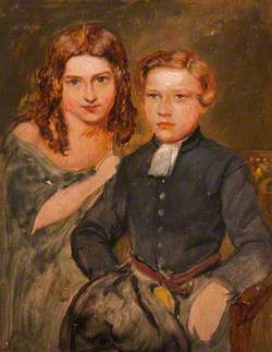 Young Boy, Seated, and Young Girl