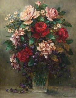 Still Life – Flower Arrangement in a Glass Vase