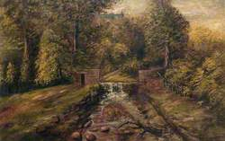 A Woodland Scene with a Weir