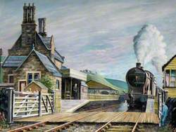 Train at Cheddleton Station