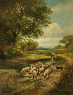 Shepherd with His Flock