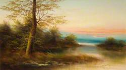 Landscape Scene at the Edge of the River