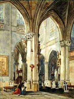 Nave of the Church of St James, Antwerp