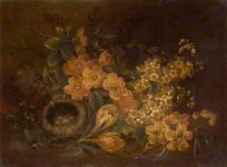 Still Life of Flowers and Bird's Nest