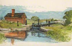 Landscape with Lock Gates and Building