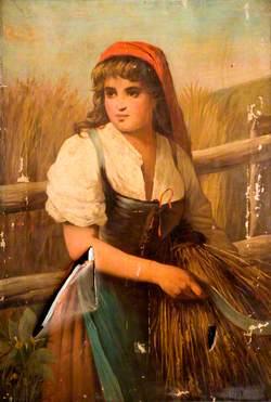 Peasant Girl with Scythe