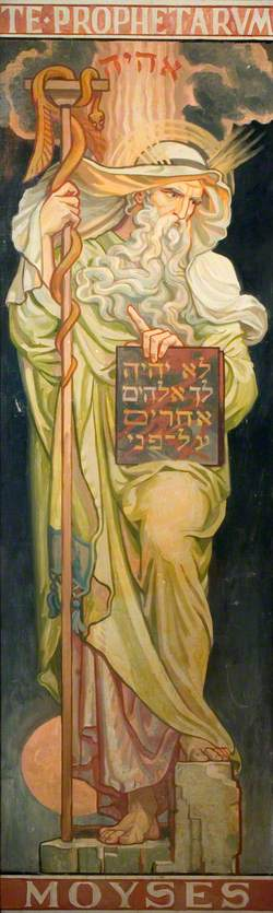 Stained Glass Design, Moses