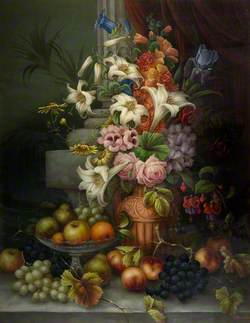 Still Life, Flowers and Fruit