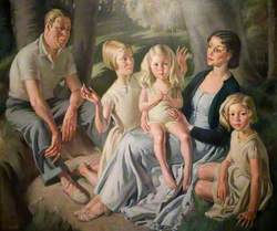 Mr and Mrs R. H. Butler and Their Daughters
