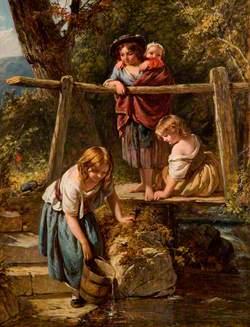 Children at a Stream