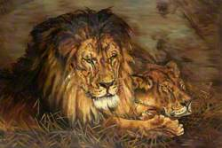 Repose (Lion and Lioness)
