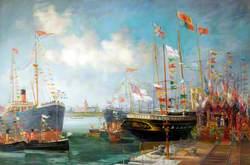 Opening of Queen Alexandra Dock, 13th July 1907
