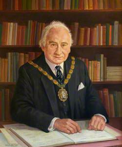 County Councillor Sir Hugh Ferguson Jones, OBE, O St J, JP, Leader of South Glamorgan County Council (1977–1979), Chairman of the County Council (1977–1978)