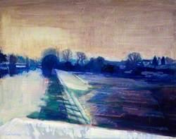Winter Evening, Llandaff Weir