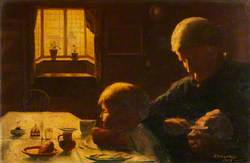 Domestic Scene (Grandmother with Child)