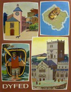 Dyfed (Laugherne Town; the Skomer Vole; St David's Cathedral; Coracle, Cenarth)