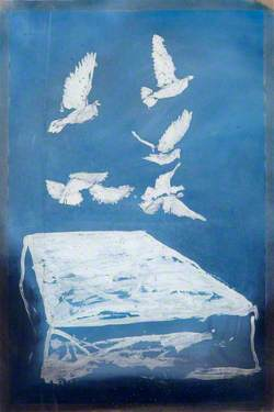 Doves over a White Tablecloth