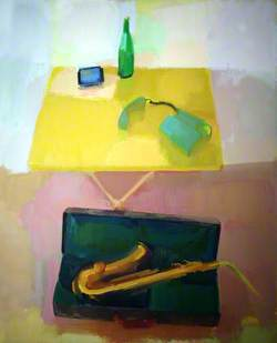 Yellow Table/Saxophone