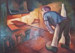 A Man at Work in a Factory*