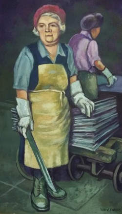 Two Women at Work in a Factory*