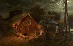 Gypsy Camp near Merthyr Tydfil