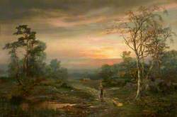 Evening Landscape with a Gooseherd and a Child