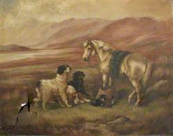 Landscape with Dogs and Horse